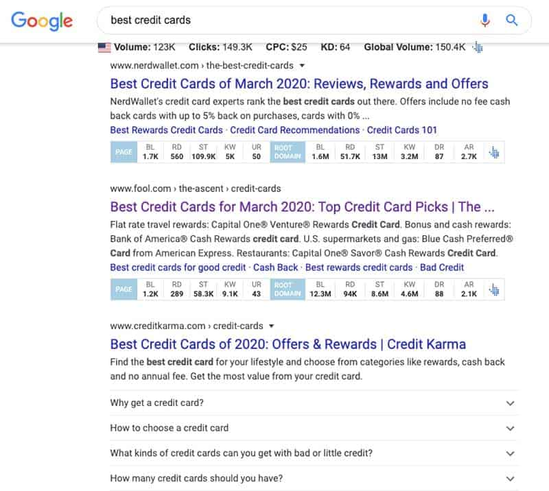 Affiliate Blog Google Search Example
