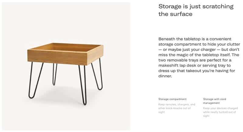 Bento Side Table Product Description