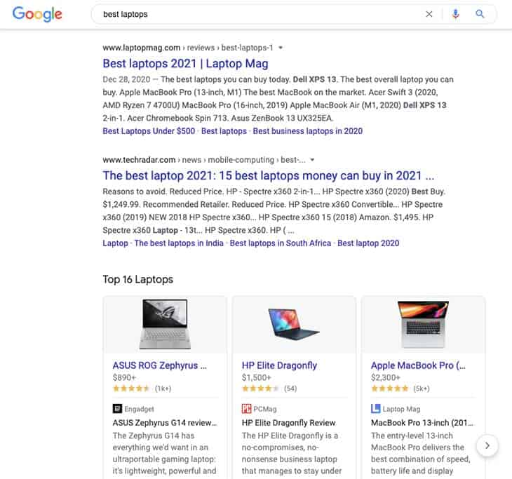 Best Laptops Google Search