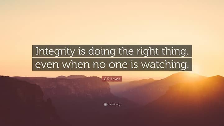 Integrity Quote by C.S. Lewis