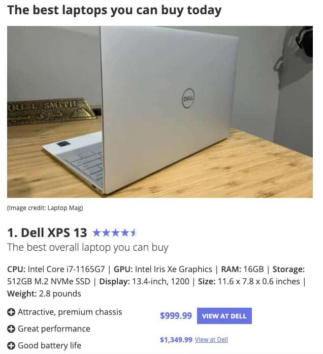 Laptop Mag Best Laptops Example