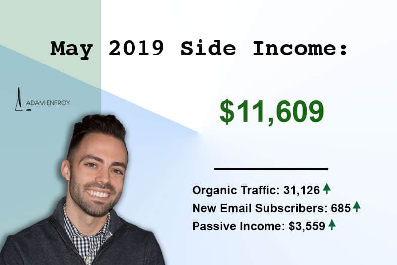Side Income Report for May 2019: How I Earned $11,609 This Month