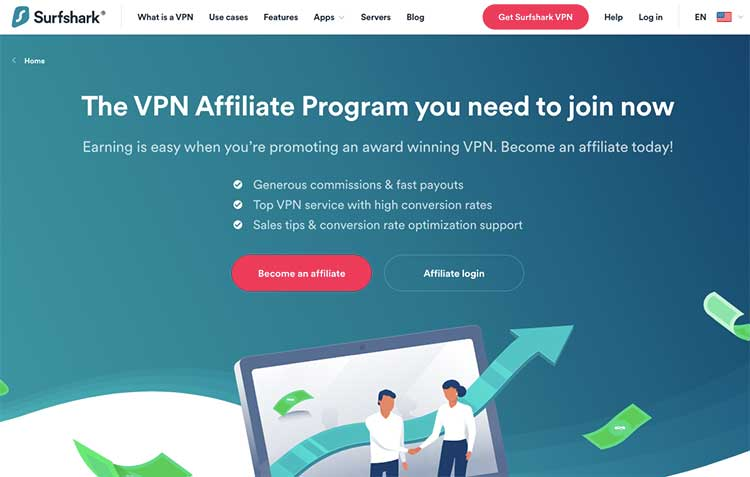 Surfshark VPN Affiliate Program