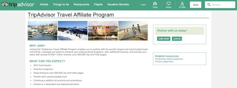 Travel Affiliate Programs Image