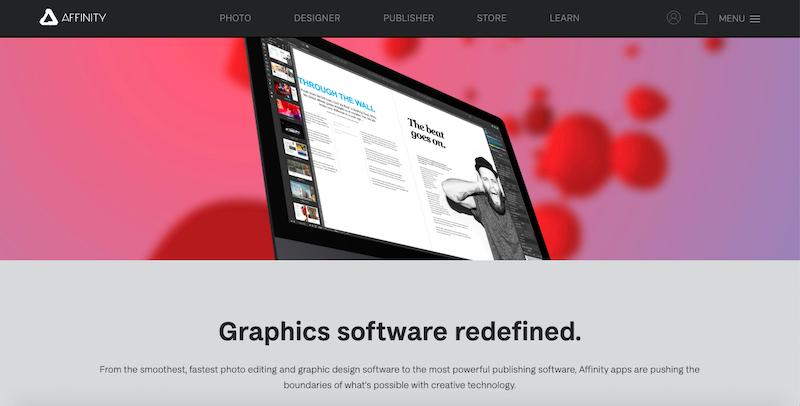 Affinity Designer graphics software cover photo