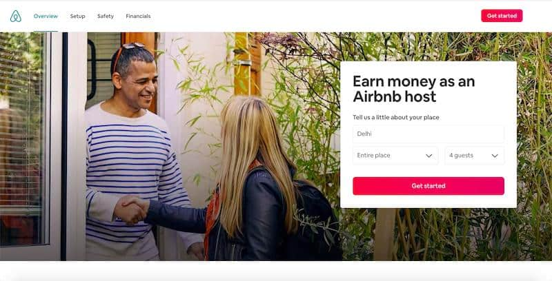 Airbnb - platform to rent out your room