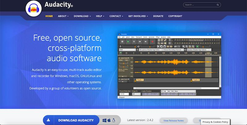 Audacity - Best Podcast Recording and Editing Software
