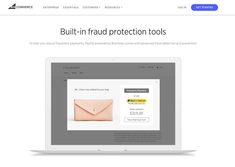 BigCommerce Payment Gateways features