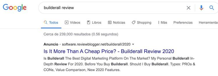 Builderall Review PPC Ad