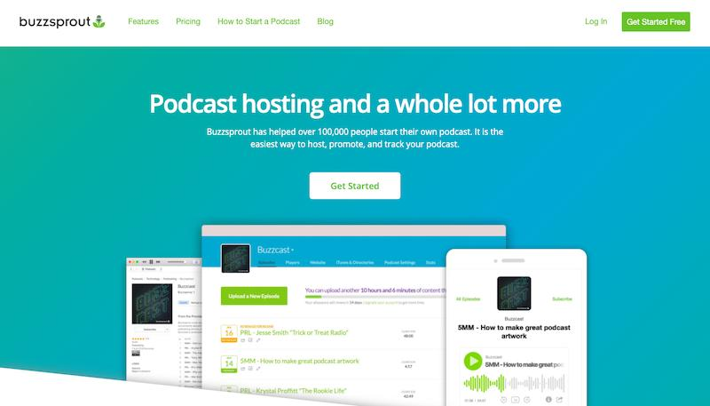 BuzzSprout Best Podcast Tool