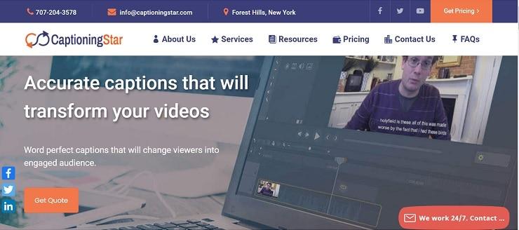 CaptionStar Homepage