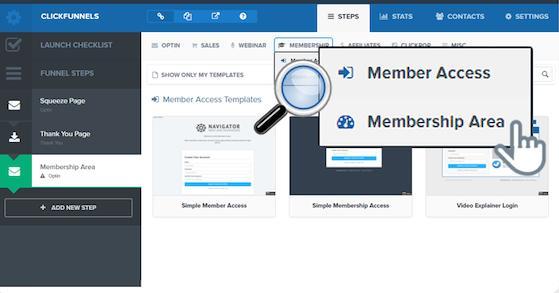 ClickFunnels: membership site
