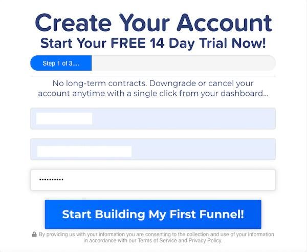 ClickFunnels Sign Up Process