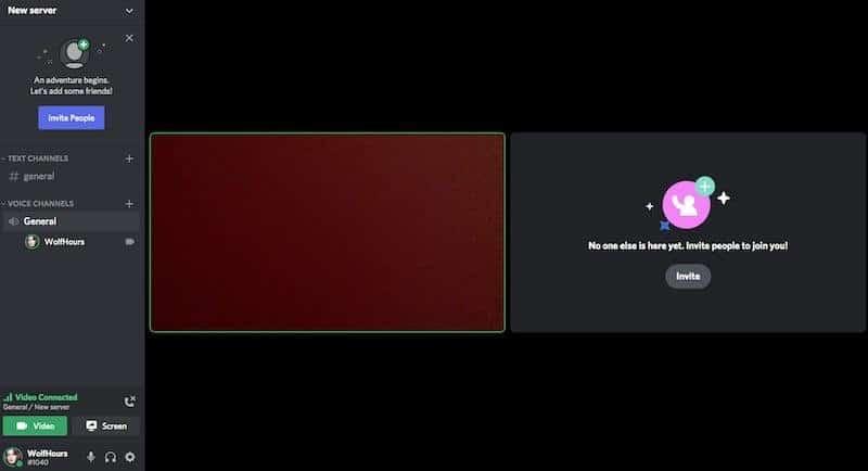 Discord Video screen
