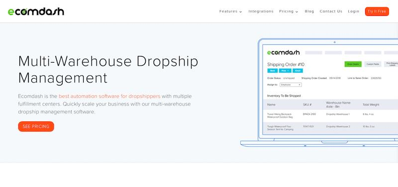 Ecomdash Multi Warehouse Dropshipping Software Tool