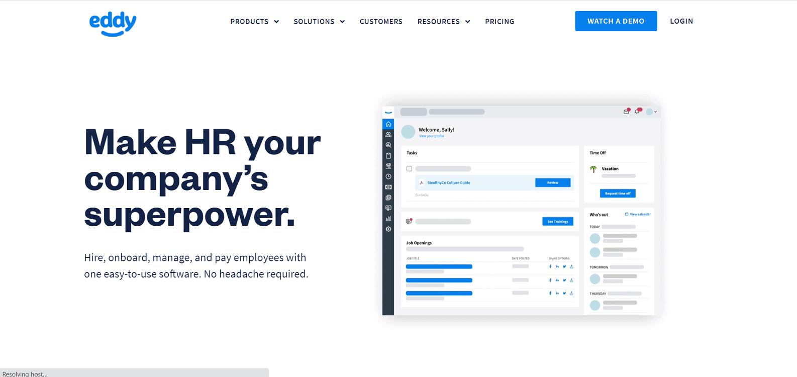Eddy Homepage