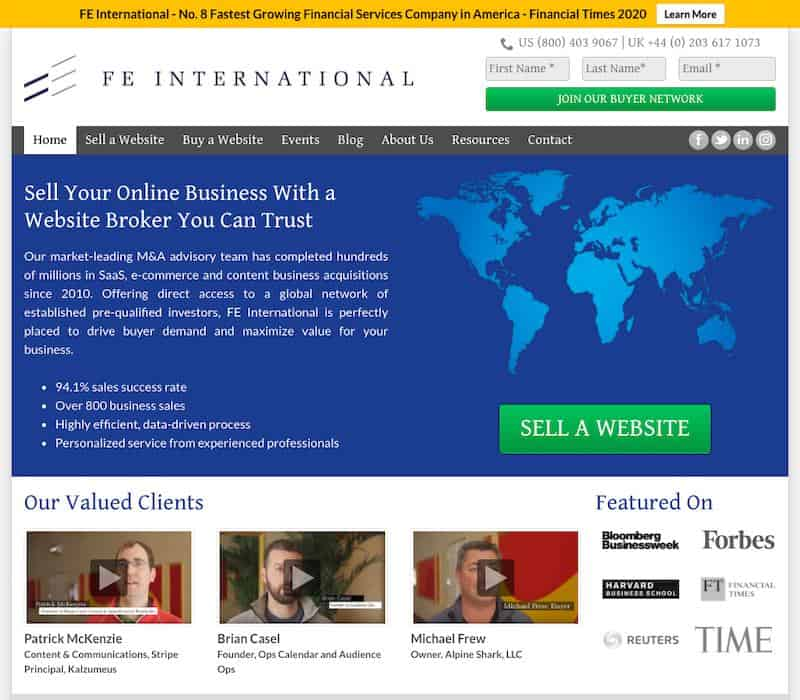 FE International - Sell your online business