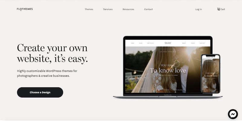 Flothemes: website building software