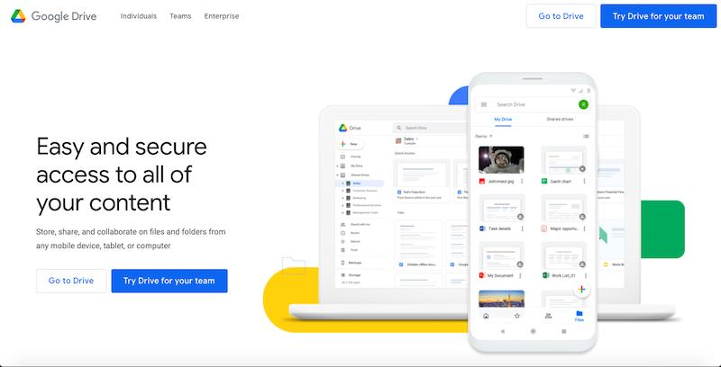 Google Drive: cloud-based file storage