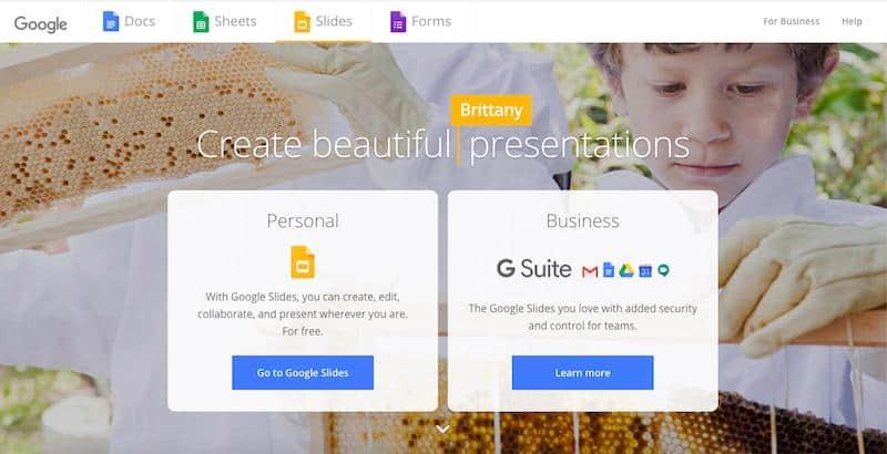Google Slides Best Presentation Software