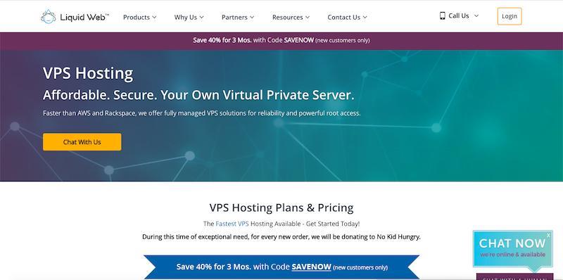 LiquidWeb - fully managed VPS hosting plan