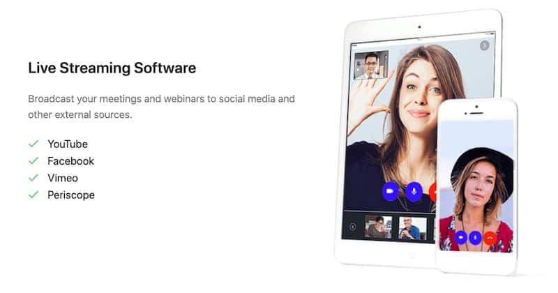 LiveWebinar social media sharing
