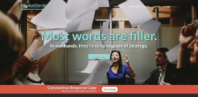MarketSmiths Content Strategists Homepage