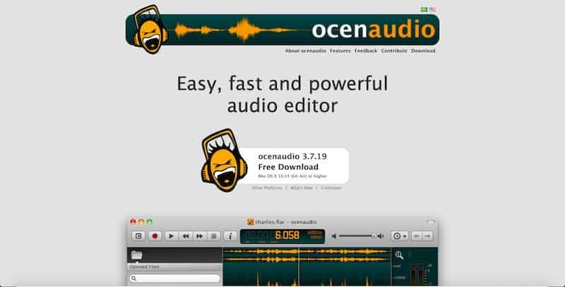 Ocenaudio - easy-to-use audio editing tool