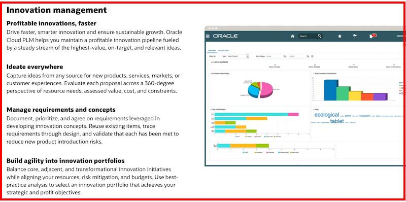 Oracle Agile PLM Innovation management