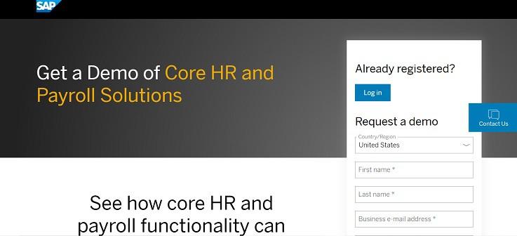 SAP SuccessFactors Contact Page