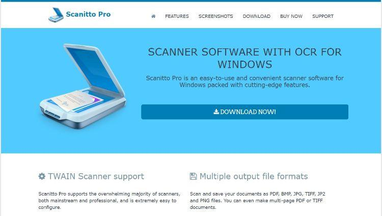 Scanitto Pro homepage