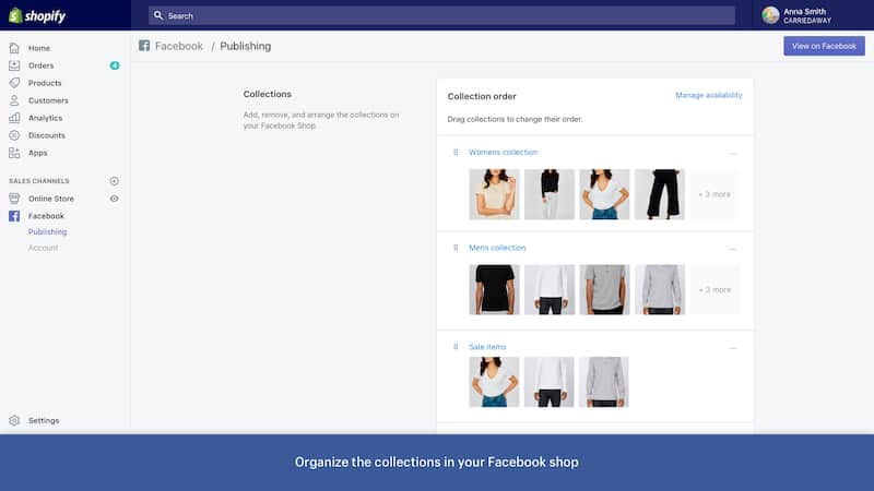 Shopify Facebook Buy Product