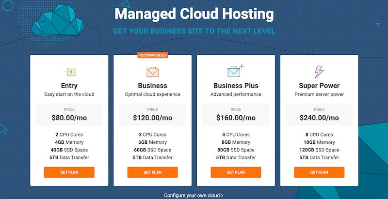Siteground vs. Bluehost: SiteGround cloud hosting