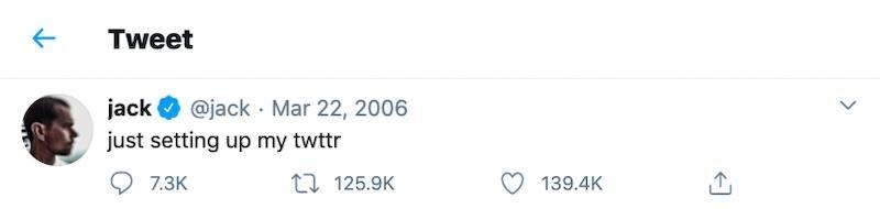 Twitter - First Tweet