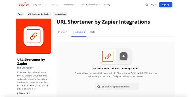 URL Shortener by Zapier
