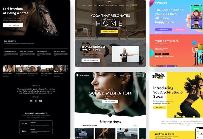 Uscreen attractive website themes