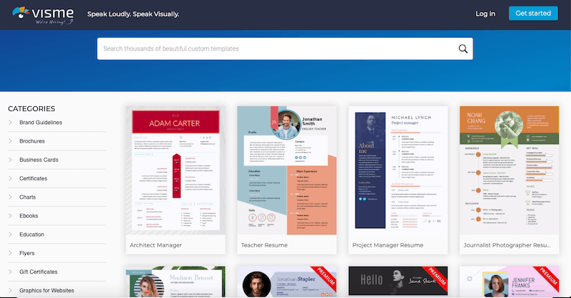 Visme Resume Templates