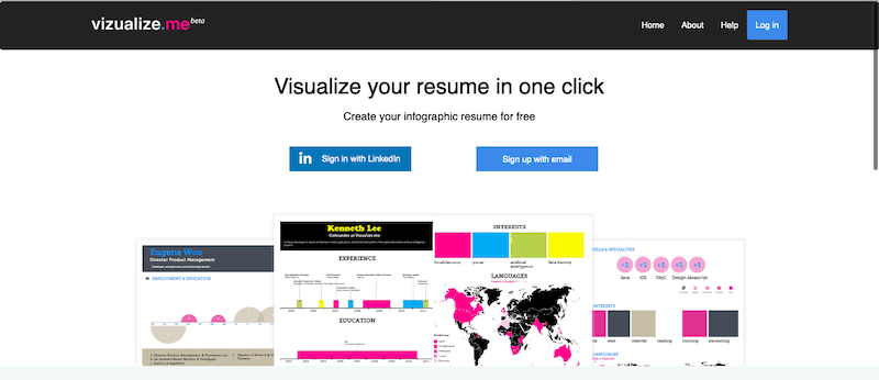Visualize.me Resume Templates