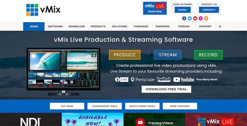 vMix - vision mixing software