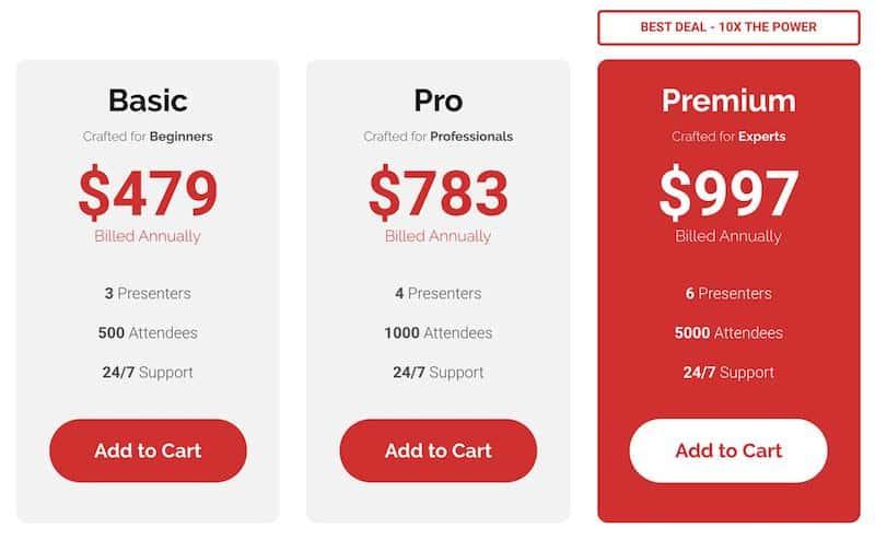 WebinarJam Pricing Plans Review