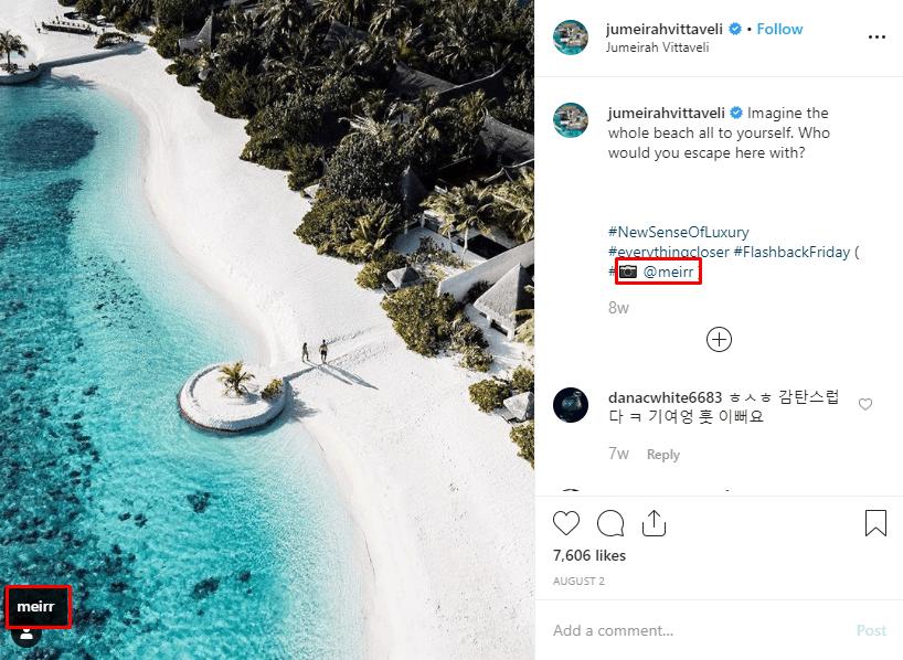 Jumeirah Vittaveli Instagram