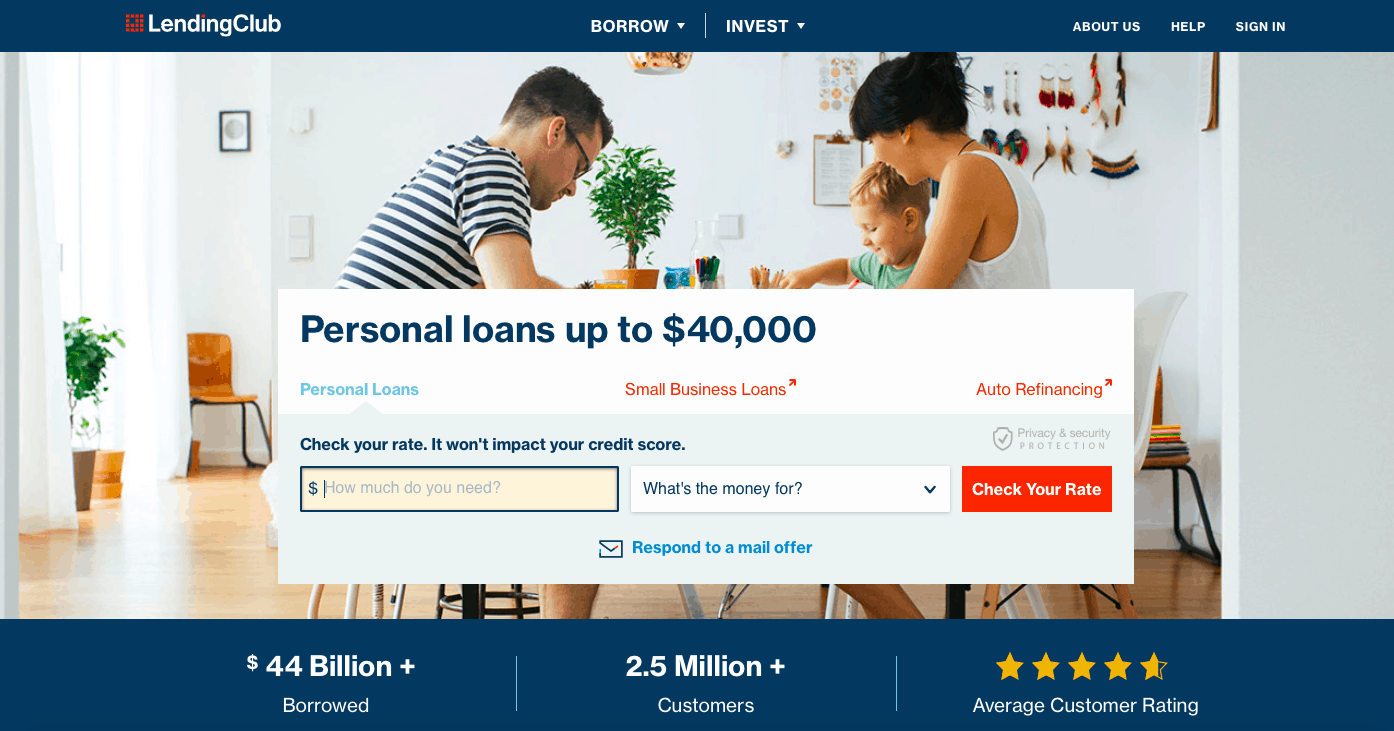 Lending Clud Home Page