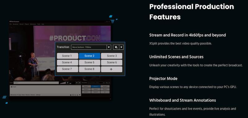 Xsplit Features